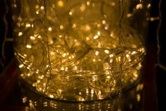 Abstract lights background. LED Lighting, Colourful festoons, Ne Royalty Free Stock Photos