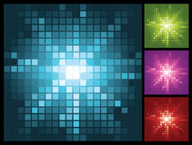 Abstract lights background with mosaic sunburst Stock Images