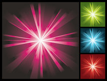 Abstract lights background with sunburst Royalty Free Stock Photos