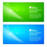 Abstract lights banner set. Royalty Free Stock Photo