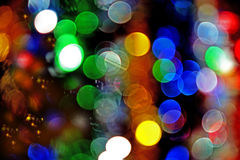 Abstract lights, blurred abstract pattern. Christmas lights in t Stock Photos