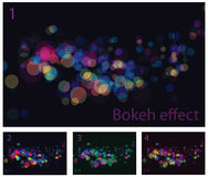 Abstract lights bokeh effects Stock Images