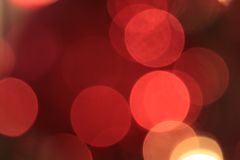 Abstract lights on the Christmas tree Royalty Free Stock Photography