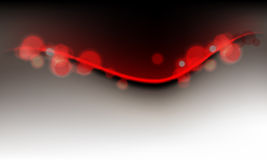 Abstract Lights on Clean Wave Background Stock Photos