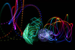 Abstract lights. Created by neon light show Royalty Free Stock Photos