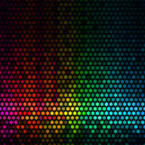 Abstract lights disco background. Multicolor star pixel mosaic  Stock Photo