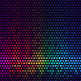 Abstract lights disco background. Multicolor star pixel mosaic . Royalty Free Stock Photography