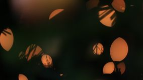Abstract lights effect background. Psychedelic abstract lights effects, orange circles stock video footage