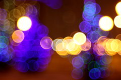 Abstract lights, flash circle, night city Stock Photos