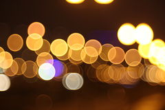 Abstract lights, flash circle, night city Stock Images
