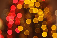Abstract lights, flash circle, night city Stock Photo