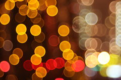 Abstract lights, flash circle, night city Royalty Free Stock Photography