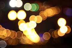 Abstract lights, flash circle, night city Royalty Free Stock Images