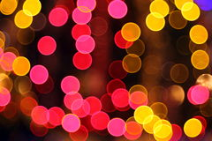 Abstract lights, flash, night city Stock Photography