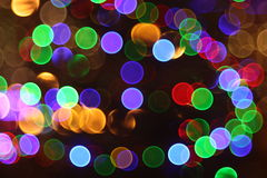 Abstract lights, flash night city Royalty Free Stock Images