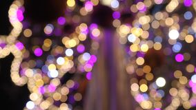 Abstract lights stock video footage