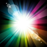 Abstract Lights for Flyers Background Stock Image