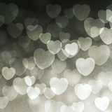 Abstract lights with hearts Royalty Free Stock Image