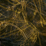 Abstract lights lines on black background. Cosmos Stock Image