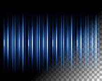 Abstract lights lines on transparent background Stock Photography
