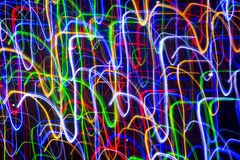 Abstract lights in motion background Stock Images