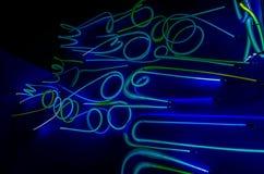 abstract lights neon Στοκ Φωτογραφίες