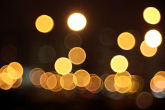 Abstract lights, night city Royalty Free Stock Photo