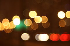 Abstract lights, night city Stock Images