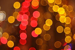 Abstract lights, night city Royalty Free Stock Images