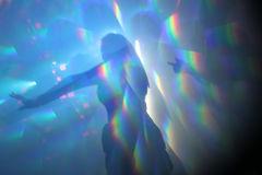 Abstract lights nightclub dance party background stock images