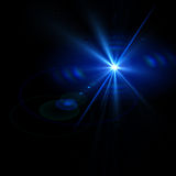 Abstract lights over black backgrounds stock photo