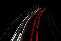 Abstract lights in red,blue and white stock photography