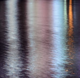 Abstract lights reflection on water Royalty Free Stock Photo