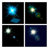 Abstract lights set. For your design Royalty Free Stock Photo