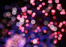 Abstract LIghts and Sparkles with Rainbow Colours Royalty Free Stock Images