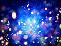 Abstract LIghts and Sparkles with Rainbow Colours Stock Image