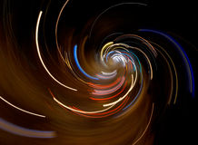 Abstract lights and speed composition Royalty Free Stock Photos