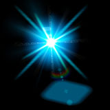 Abstract lights. Sun and festive backgrounds for your design Royalty Free Stock Photos