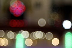 Abstract lights, tears in eyes , night city Royalty Free Stock Photography