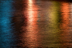 Abstract lights and water pattern Royalty Free Stock Photos