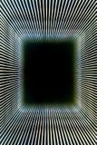 Abstract lijnkader en zwart gat Stock Afbeelding