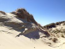 Abstract lijnpatroon in de duinen van de Noordzee Royalty-vrije Stock Afbeeldingen