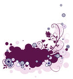 Abstract lilac. Design with roses Royalty Free Stock Image