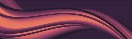 Abstract lilac banner on purple. Banner with abstract lilac pattern on purple background. Vector illustration Stock Photo