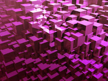 Abstract lilac cubes. 3d illustration. Colorful creative geometric background. Geometric wallpaper Vector Illustration