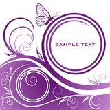 Abstract lilac floral background Stock Photography