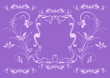 Abstract lilac floral ornament Royalty Free Stock Photo