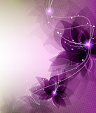 Abstract lilac flowers Royalty Free Stock Photography