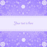 Abstract lilac frame stock illustratie