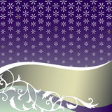 Abstract  lilas background with snowflakes Royalty Free Stock Photo